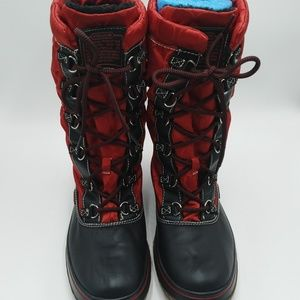 Coach Shaine Red Winter Boots Size 10
